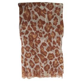 Stella Mc Cartney-Foulard-Imprimé léopard
