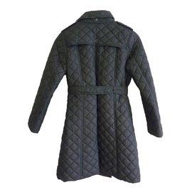 Burberry-Manteau filles-Noir
