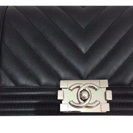 Chanel-boy chevron-Black