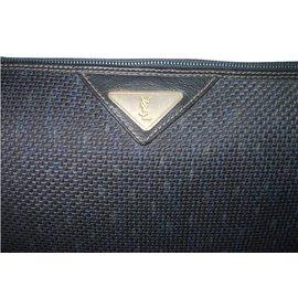 Yves Saint Laurent-Vintage pouch-Blue