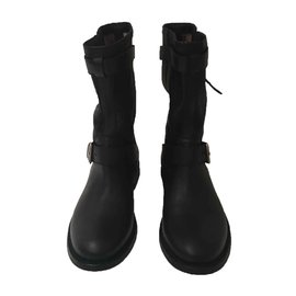 Burberry-Biker boots-Black