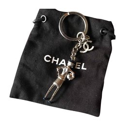 Chanel-Key holder-Silvery