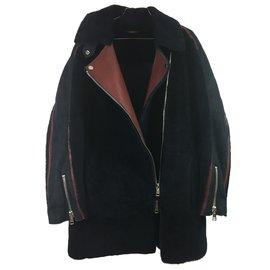 Liven-Shearling coat-Blue