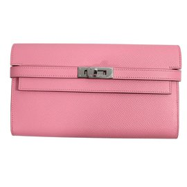 Hermès-Kelly long wallet classique-Pink