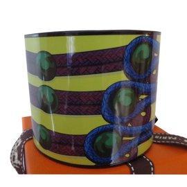 Hermès-Bracelet Email MEGA LARGE-Multicolore
