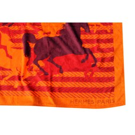 Hermès-Bath set-Orange,Prune