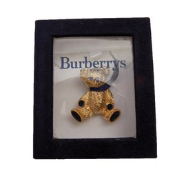 Burberry-Brooch-Blue,Golden,Green