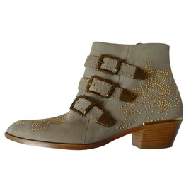 Chloé-Ankle Boots-Grey