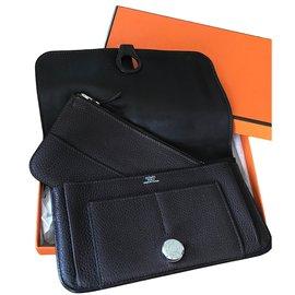 Hermès-portefeuille compagnon DOGON-chocolat Hermès-portefeuille compagnon  DOGON-chocolat 0903dd4d733