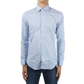 Emanuel Ungaro-Ungaro brand new men's light blue stretch shirt-Blue