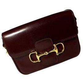 Céline-Handbag-Dark red