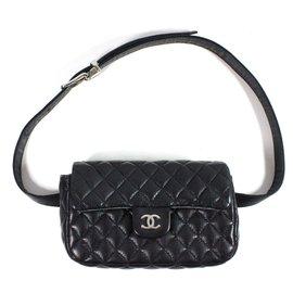 Chanel-Pochette ceinture Uniform-Noir
