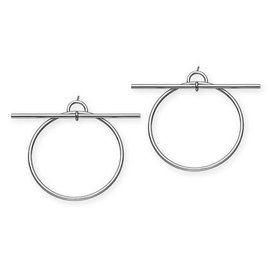 Hermès-Boucles d'oreilles Loop-Argenté