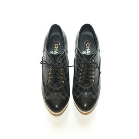 Chanel-Lace up-Black