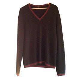Gucci-Pull Gucci noir pure laine vierge taille L-Noir