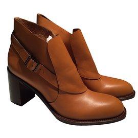 Chloé-Ankle Boots-Caramel