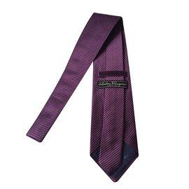 Salvatore Ferragamo-Cravate-Violet,prune