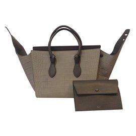 Céline-Handbag-Taupe