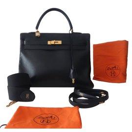31cd6e4639 Hermès-SAC HERMES KELLY HERMES TOGO 35-Noir ...