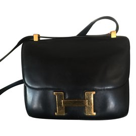 Hermès-Handbag-Black