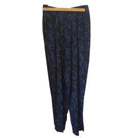 Yves Saint Laurent-Pantalon vintage-Bleu
