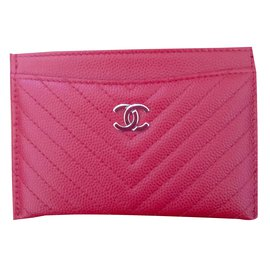 Chanel-Card holder-Red