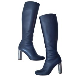 Céline-Bam Bam knee-high boots-Blue