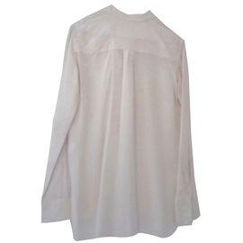 Céline-Silk blouse-White