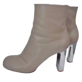 Céline-Iconic Céline Bam Bam booties-Beige