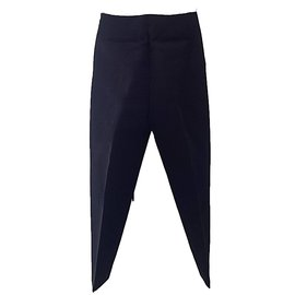 Céline-Runway trousers with a couture shape-Black