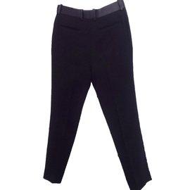 Céline-Tuxedo Trousers-Black