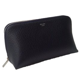Céline-Leather pouch-Blue
