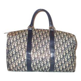 Christian Dior-Vintage travel bag-Blue,Beige