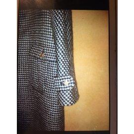 Chanel-Manteau (réservé)-Noir,Blanc
