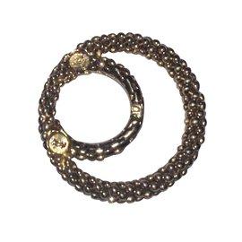 Yves Saint Laurent-Bague ou anneau foulard-Doré