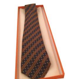 Hermès-Cravates-Multicolore