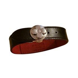Louis Vuitton-Bracelet en cuir Good Luck-Noir