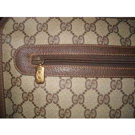 Gucci-vintage Briefcase-Brown,Eggshell