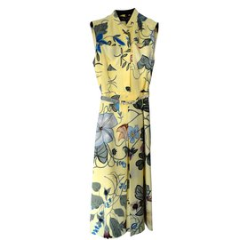 Gucci-Robe floral-Jaune