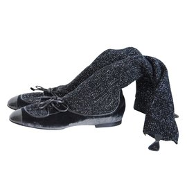 Chanel-Bottes-Noir,gris anthracite
