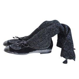 Chanel-Boots-Black,Dark grey