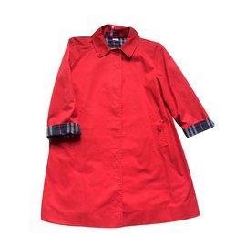 Burberry-Manteau fille-Rouge
