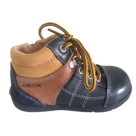 Geox-Boots-Brown,Blue,Yellow