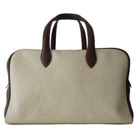 Hermès-SAC HERMES VICTORIA GRAND MODELE-Beige
