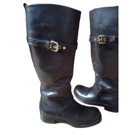 Louis Vuitton-bottes cavalières-Marron