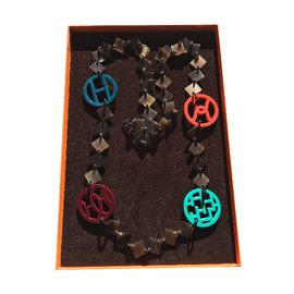Hermès-Horn Necklace-Brown
