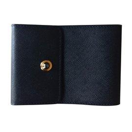Chaumet-Neuf porte chéquier cuir noir-Noir