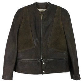 Golden Goose-Veste cuir-Marron