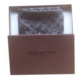 Louis Vuitton-Châle monogramme Shine-Argenté