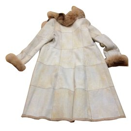 Yves Salomon-Coat-Beige